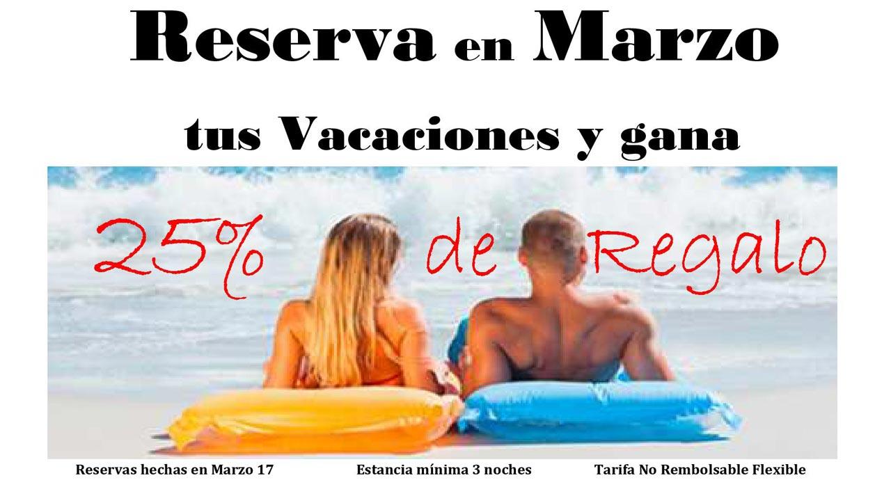 reserva marzo con 25% descuento
