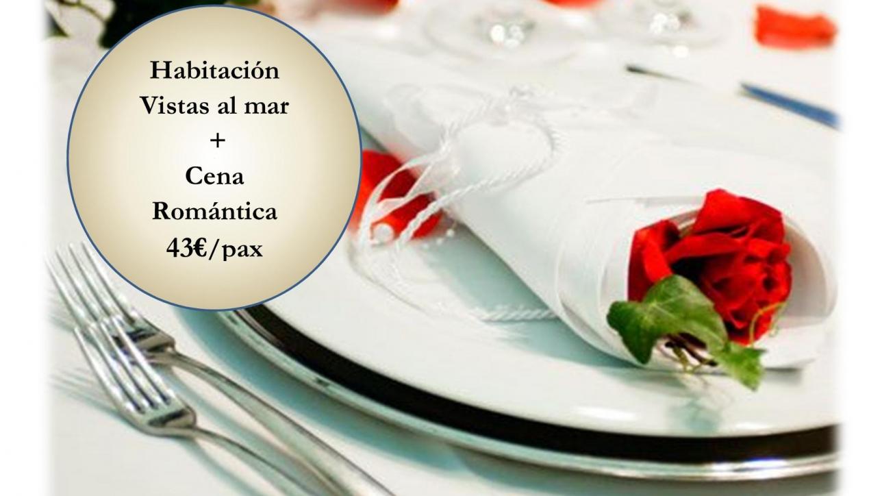 ESCAPADA CON CENA ROMANTICA •HABITACION DOBLE (planta alta, es decir con terraza, bajo disponibilidad) •DESAYUNO ( Horario: 09:30h – 11:30h, se sirve en el Restaurante Fidel situado encima del hotel) •DETALLE DE BIENVENIDA ( botella de albariño, bombones, aguas, invitación de una consumición por pax en el Restaurante Fidel) •SALIDA TARDIA ( bajo disponibilidad) •CENA ROMANTICA EN EL RESTAURANTE FIDEL*( HORARIO: 20:30H – 22:30H) •PRECIO DE MARTES A VIERNES: 40€/PAX •PRECIO PARA EL SABADO: 430€/PAX •NIÑOS DE 0 – 3 AÑOS: GRATUITOS ( compartiendo cena y habitación don los adultos) •NIÑOS DE 4 – 16 AÑOS: 15€ ( compartiendo habitación con dos adultos) •ADULTO: 25€ (compartiendo habitación con dos adultos) *LA CENA CONSISTE EN: PRIMEROS PARA COMPARTIR: Gambas a la plancha Pimientos del piquillo rellenos de pescado y mariscos Huevos rotos con pan de maíz y aceite de chorizo  SEGUNDO A ELEGIR: Croca de buey en tiras poco hechas con escamas de sal Maldon y patatas Merluza a la cazuela Tallarines marinera POSTRE CASERO PAN Y CAFE BEBIDAS NO INCLUIDAS